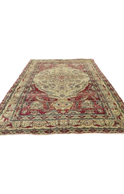 4 x 6 Antique Persian Kerman Rug 77515