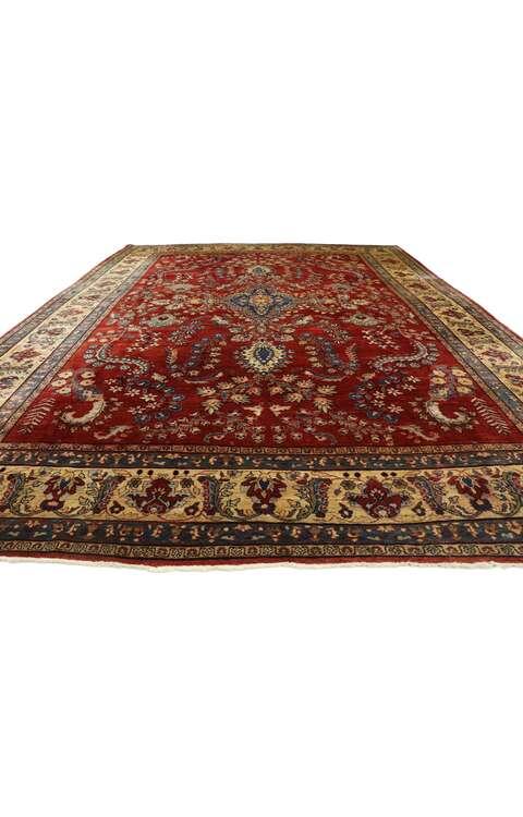 9 x 12 Antique Persian Sarouk Mohajeran Rug 77516