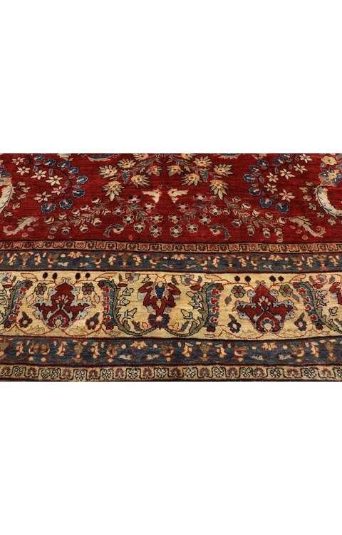 9 x 12 Antique Persian Sarouk Mohajeran Rug 775169 x 12 Antique Persian Sarouk Mohajeran Rug 77516