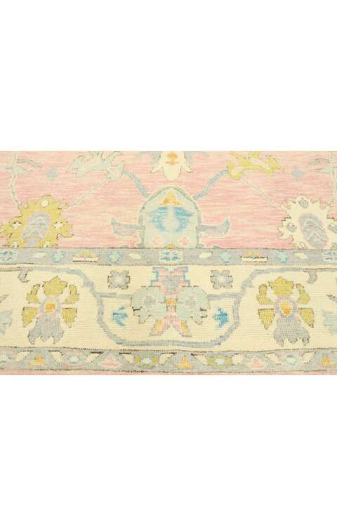 8 x 10 Contemporary Pink Oushak Rug 80595
