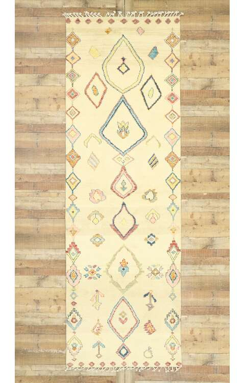 4 x 12 Contemporary Moroccan Runner 80620