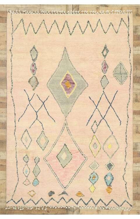 6 x 9 Pink Moroccan Rug 80625