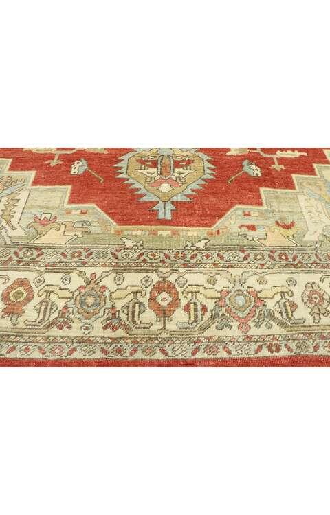 9 x 13 Antique Turkish Oushak Rug 53019