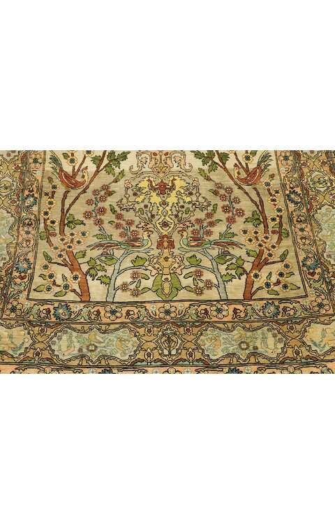 3 x 3 Vintage Silk Hereke Rug 77026