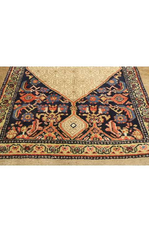 5 x 12 Antique Persian Camel Hair Malayer Runner 77493