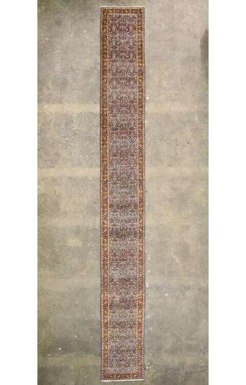 3 x 23 Antique Persian Tabriz Runner 77498