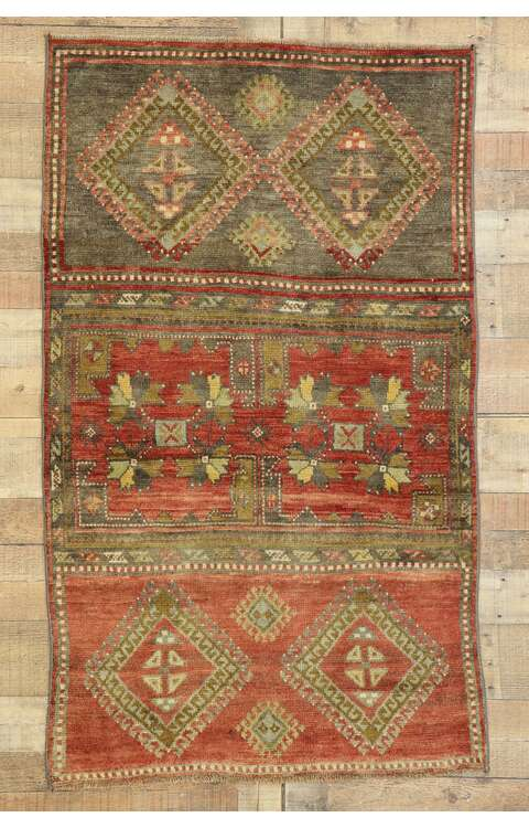 3 x 5 Vintage Turkish Oushak Rug 53073