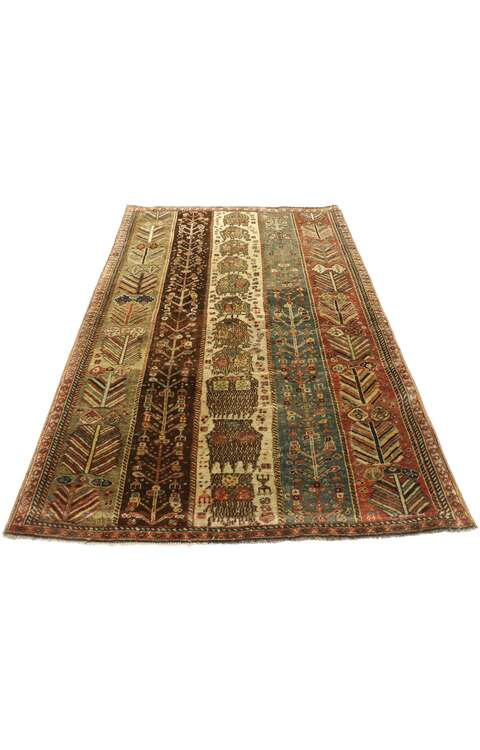3 x 4 Vintage Turkish Oushak Rug 53089