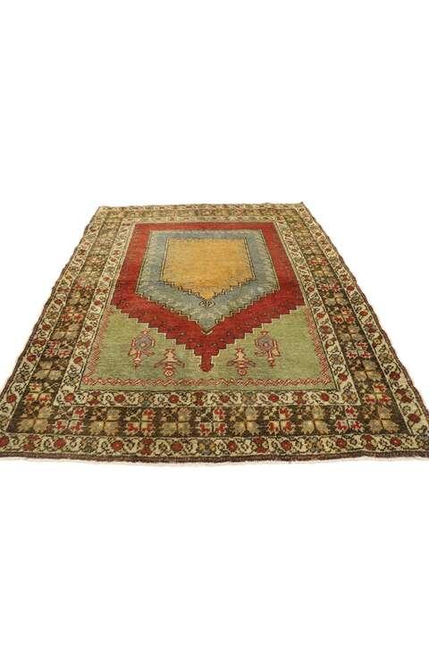 4 x 5 Vintage Turkish Oushak Rug 53092
