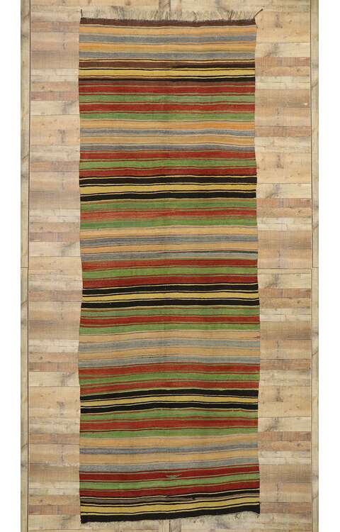 5 x 14 Vintage Turkish Kilim Runner 53133