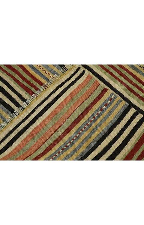5 x 10 Vintage Turkish Kilim Runner 53137