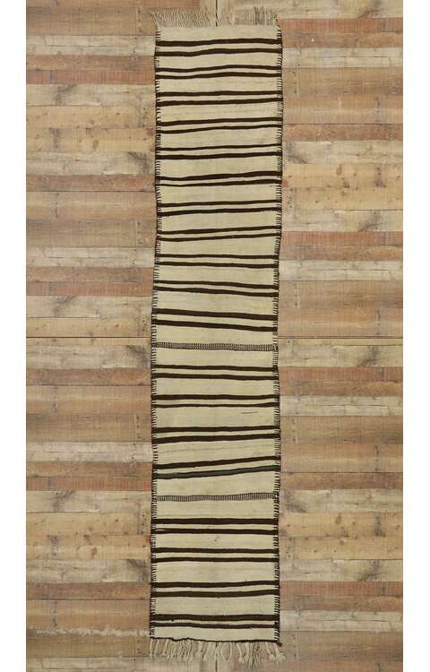 2 x 12 Vintage Turkish Kilim Runner 53138