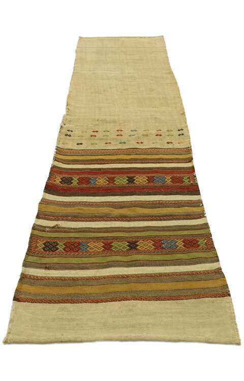 2 x 8 Vintage Turkish Kilim Runner 531392 x 8 Vintage Turkish Kilim Runner 53139