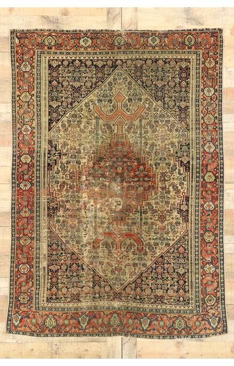5 x 6 Antique Persian Malayer Rug 53141
