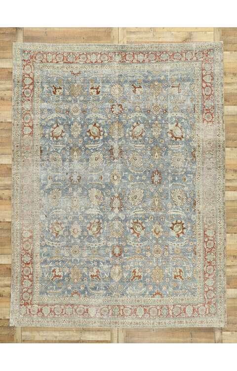 9 x 12 Antique Persian Tabriz Rug 53174