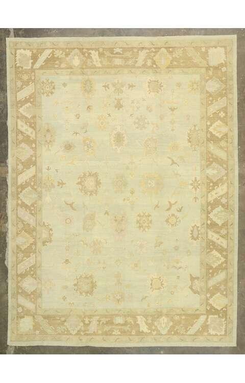 12 x 17 Contemporary Turkish Oushak Rug 51607