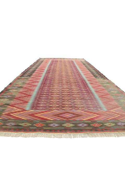 10 x 21 Vintage Indian Dhurrie Rug 77540