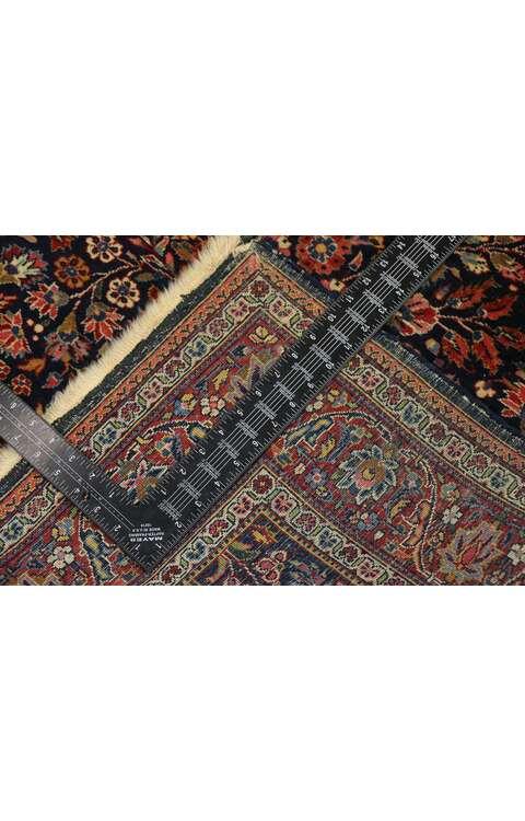 4 x 5 Antique Persian Kashan Rug 77549