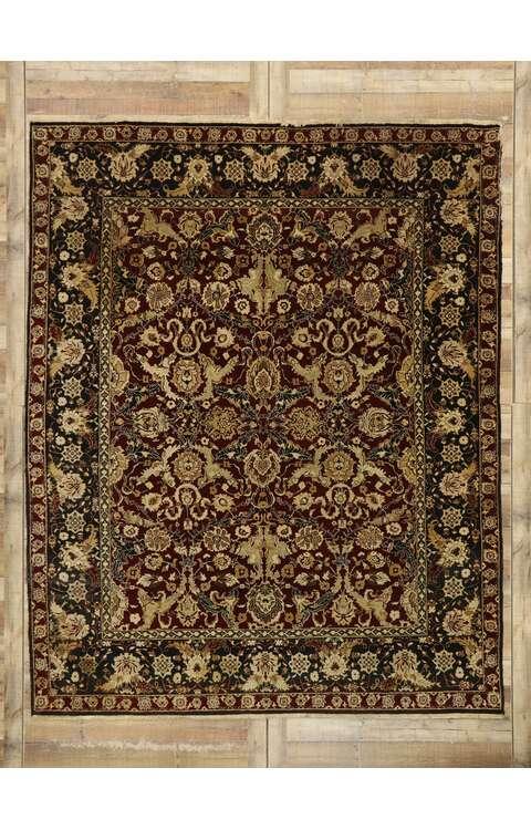 8 x 10 Vintage Indian Rug 77554