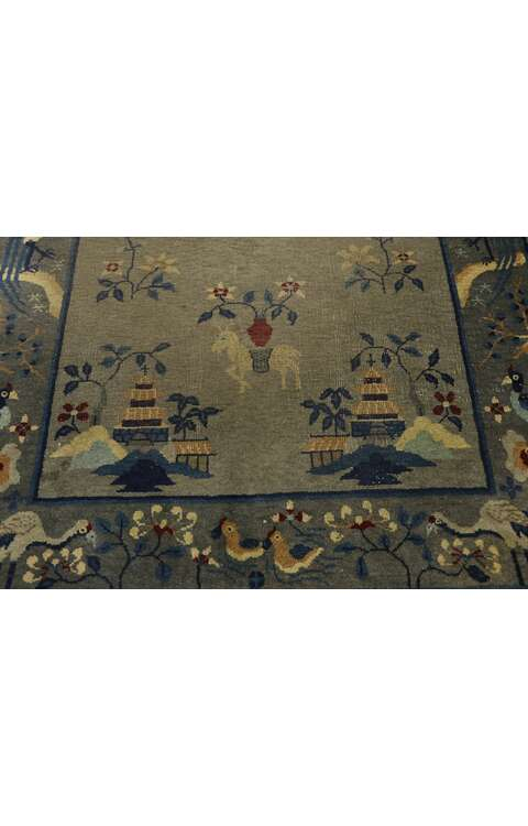 4 x 7 Antique Chinese Art Deco Rug 775574 x 7 Antique Chinese Art Deco Rug 77557