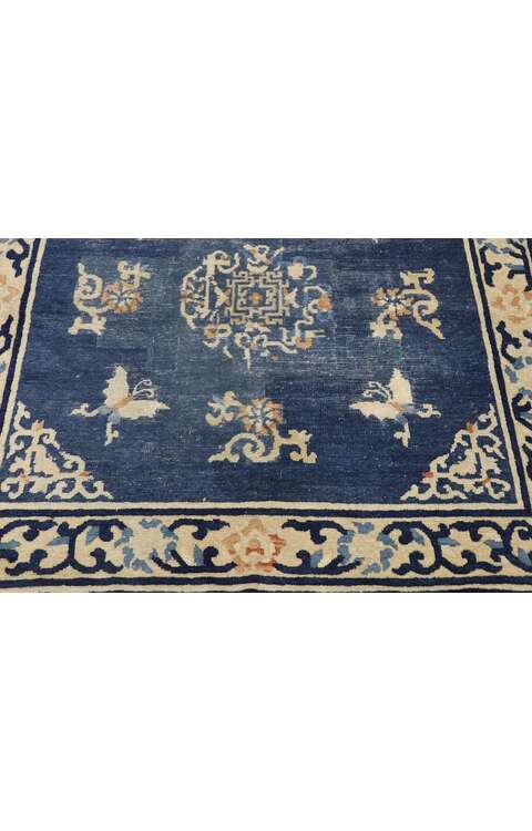 4 x 4 Antique Chinese Art Deco Rug 775614 x 4 Antique Chinese Art Deco Rug 77561