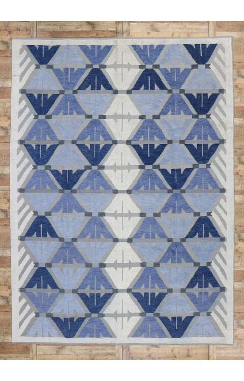 10 x 14 Contemporary Kilim Rug 30559