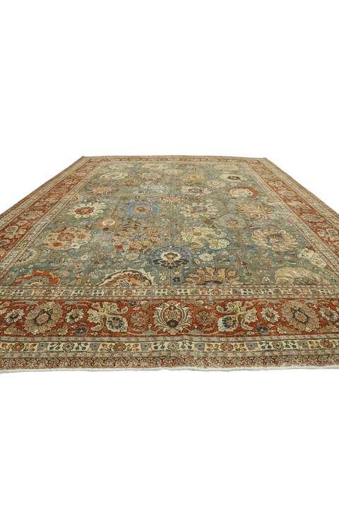 11 x 15 Antique Persian Tabriz Rug 5322111 x 15 Antique Persian Tabriz Rug 53221