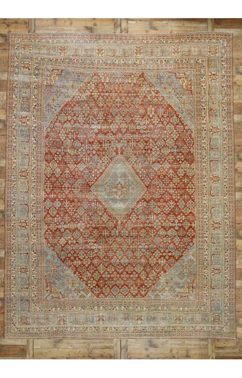 11 x 14 Antique Persian Joshegan Rug 53231