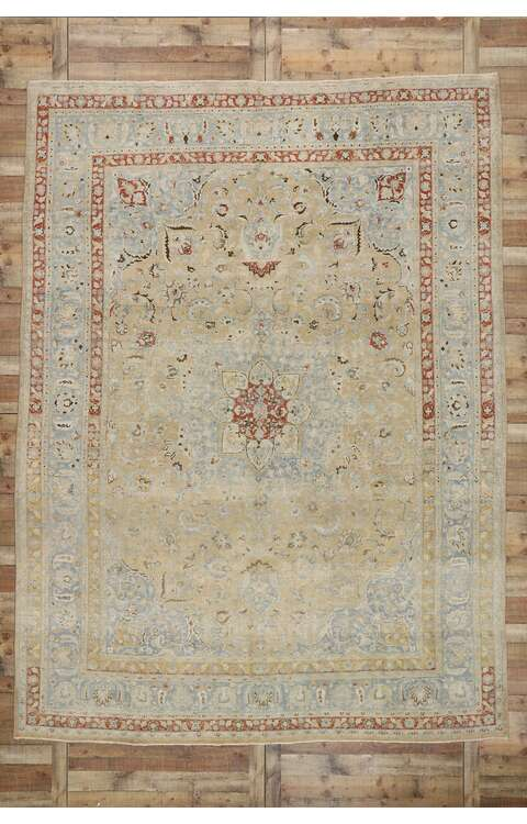 10 x 13 Antique Persian Khorassan Rug 53261