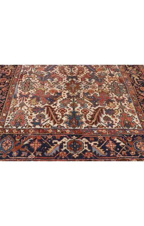 7 x 10 Antique Persian Heriz Rug 77559