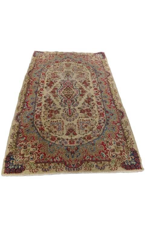 3 x 5 Antique Persian Kerman Rug 77560