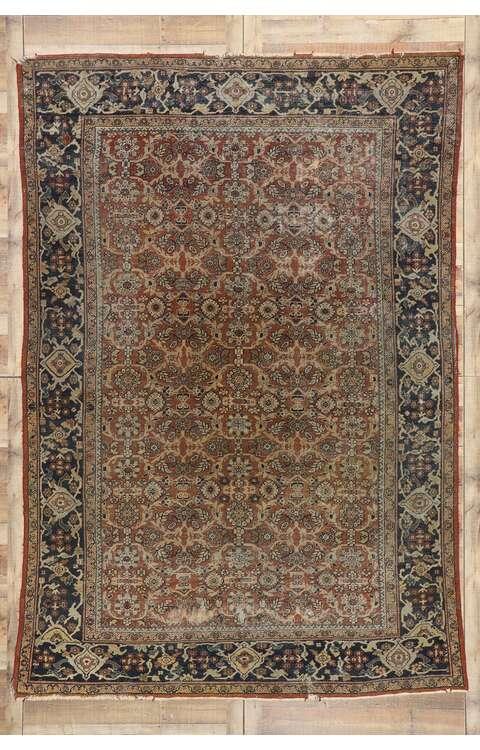 8 x 12 Antique Persian Mahal Rug 77572