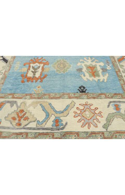 9 x 10 Turkish Oushak Rug 53460