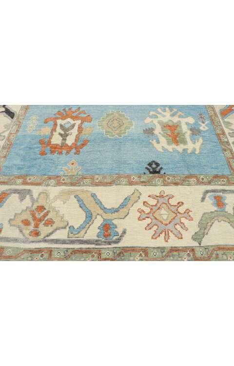 9 x 10 Turkish Oushak Rug 53460