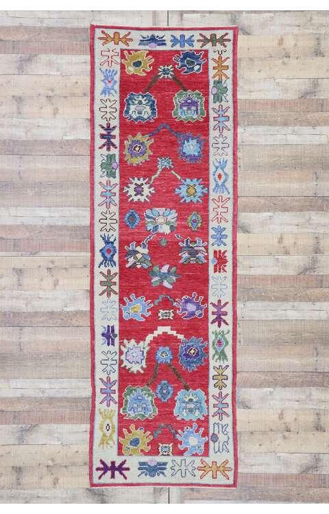 3 x 9 Turkish Oushak Runner 53464