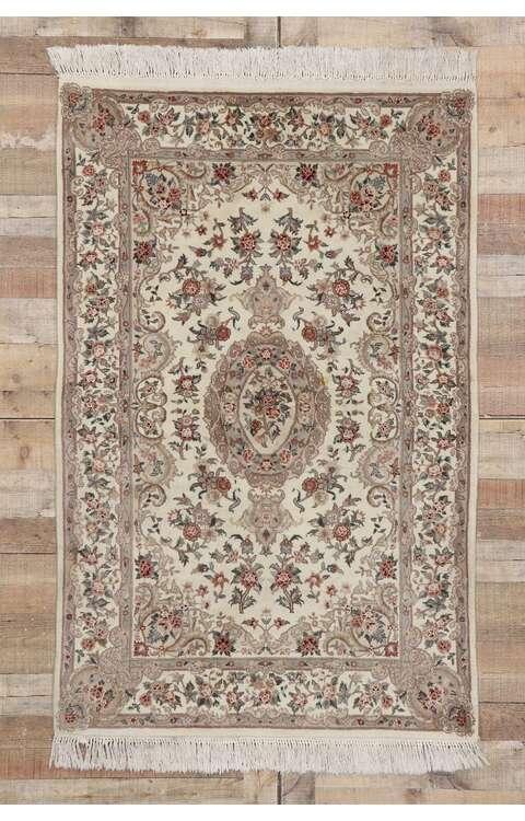 4 x 6 Vintage Persian Tabriz Rug 77570