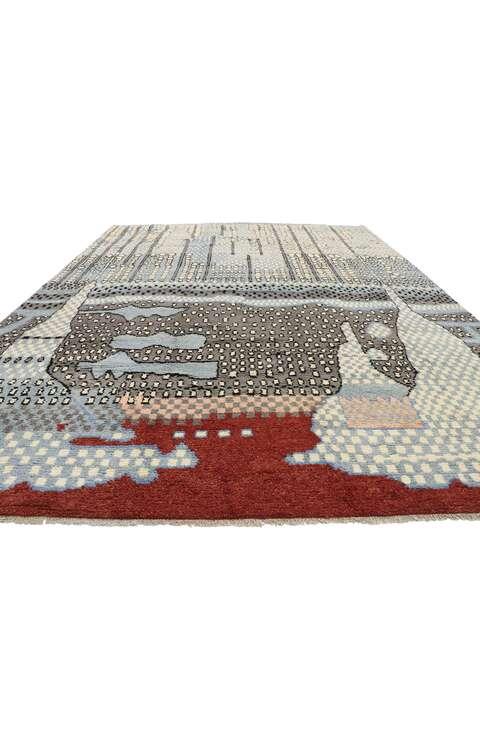 10 x 14 Contemporary Moroccan Rug 80644