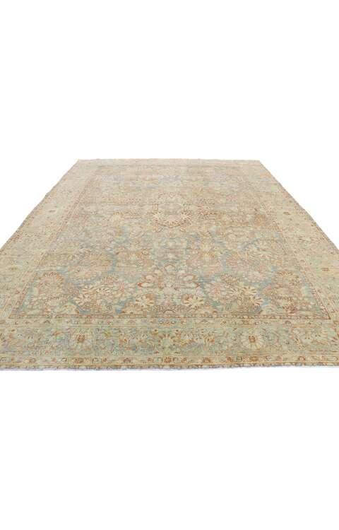 9 x 12 Antique Persian Sarouk Rug 53481