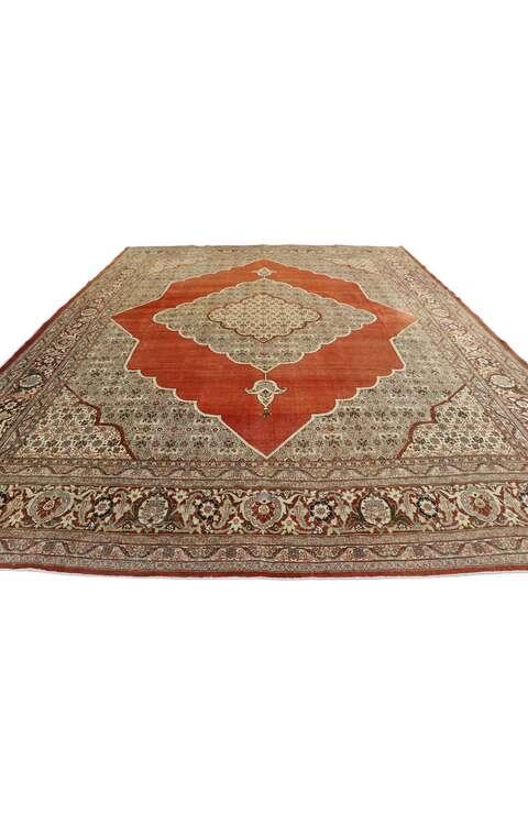 10 x 13 Antique Persian Tabriz Rug 53482