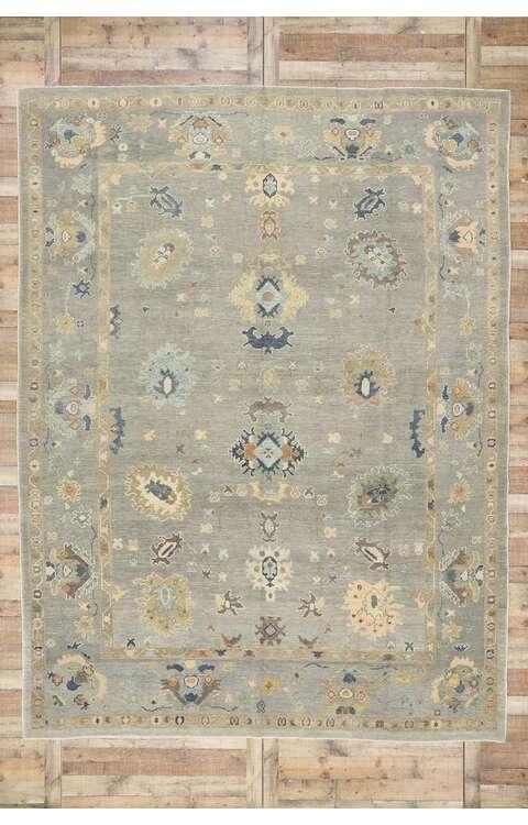 10 x 13 Contemporary Turkish Oushak Rug 53495