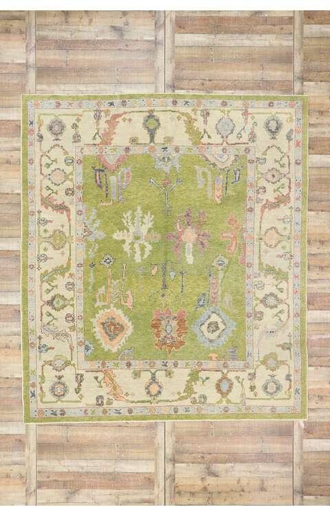 9 x 10 Contemporary Turkish Oushak Rug 53503
