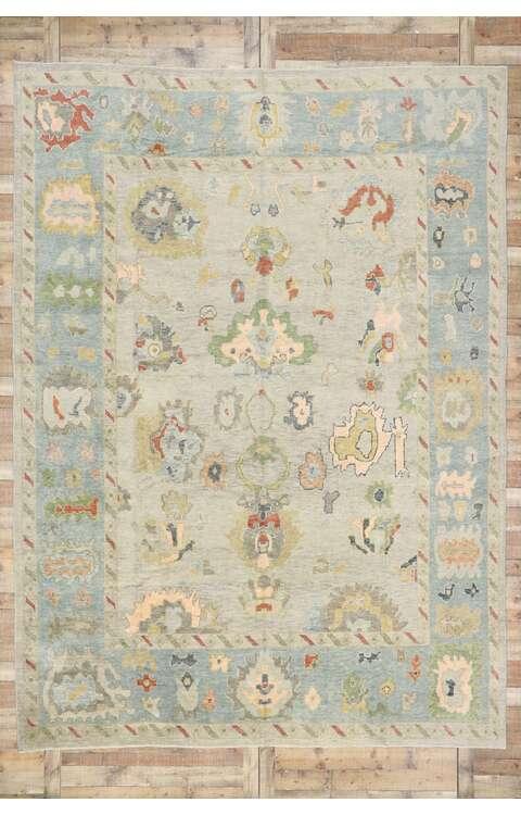 10 x 14 Contemporary Turkish Oushak Rug 53507