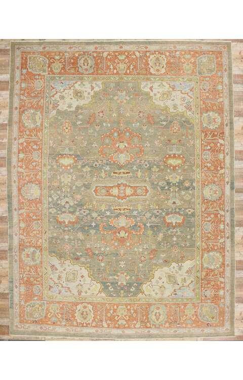12 x 16 Contemporary Turkish Oushak Rug 5350812 x 16 Contemporary Turkish Oushak Rug 5350812 x 16 Contemporary Turkish Oushak Rug 53508