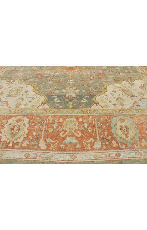 12 x 16 Contemporary Turkish Oushak Rug 53508