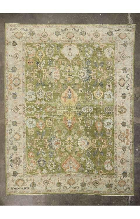 13 x 17 Contemporary Turkish Oushak Rug 53509