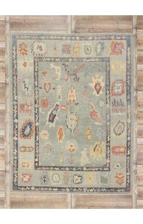 8 x 10 Contemporary Turkish Oushak Rug 53511