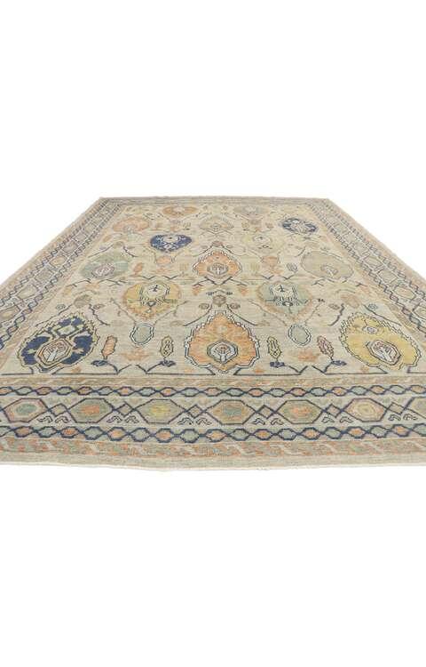10 x 14 Contemporary Turkish Oushak Rug 53512