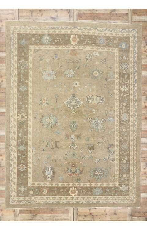 10 x 14 Contemporary Turkish Oushak Rug 53516