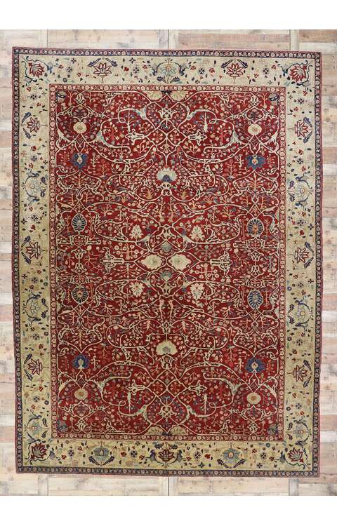 10 x 14 Antique Persian Agra Rug 77643