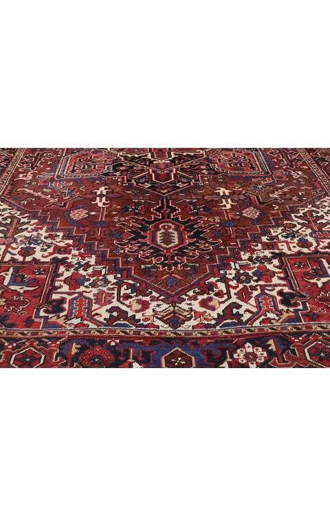 9 x 12 Antique Persian Heriz Rug 77644